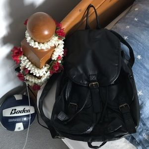faux leather backpack !!